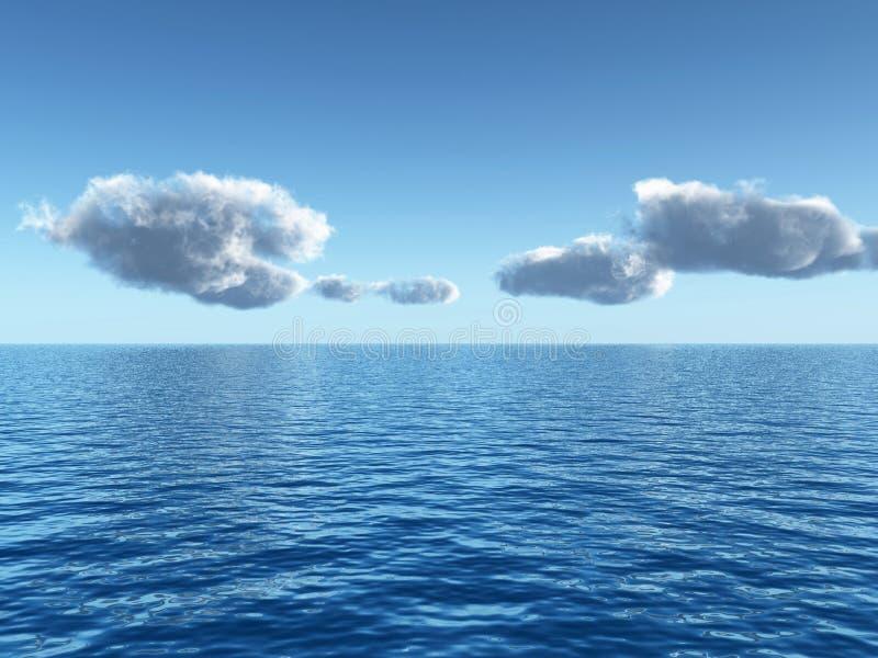 Céu do mar ilustração do vetor