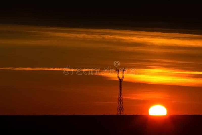 Céu do por do sol do ouro imagens de stock