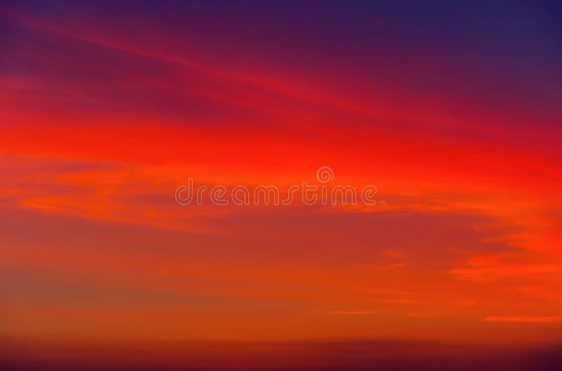 Céu do por do sol como o fundo Horizonte brilhante foto de stock royalty free