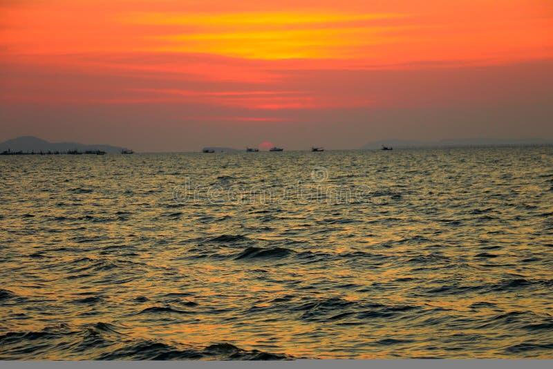 Céu do Th no mar fotografia de stock