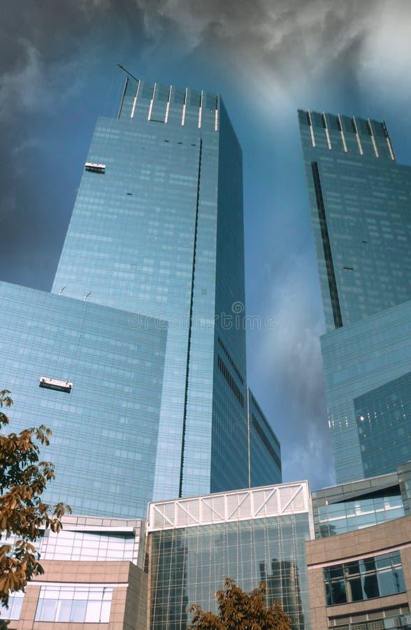 Céu dramático sobre Columbus Circle, New York - Manhattan foto de stock royalty free