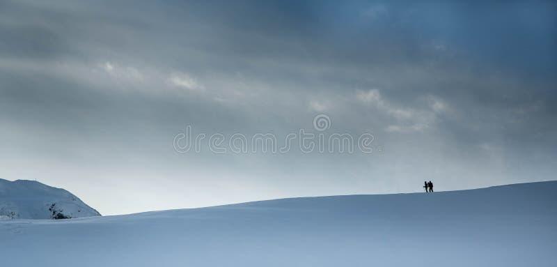 Céu e neve fotos de stock