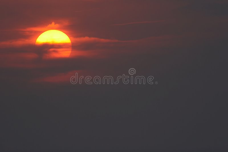 céu e sol fotografia de stock
