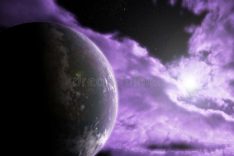 Céu e terra foto de stock