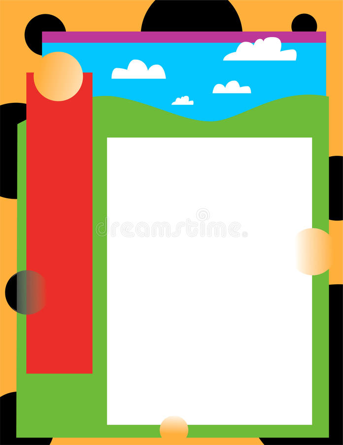 Download Céu e terra coloridos ilustração stock. Ilustração de verde - 16850180