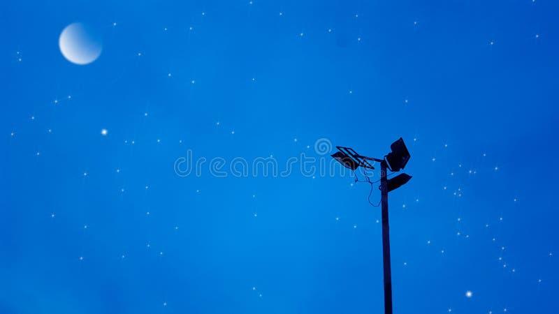 Céu enluarada imagens de stock