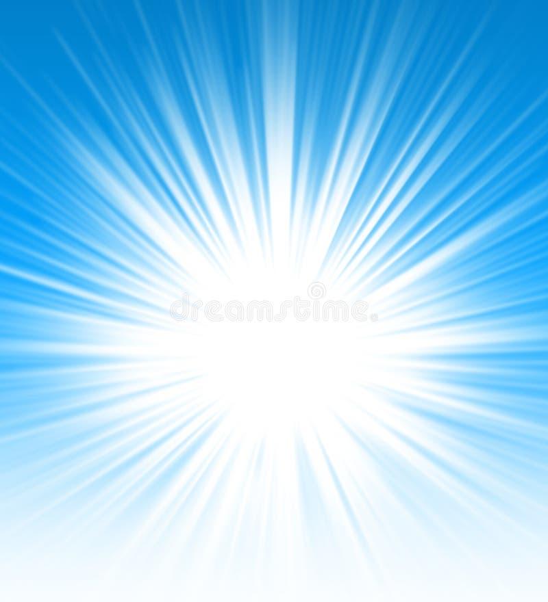 Céu ensolarado ilustração stock