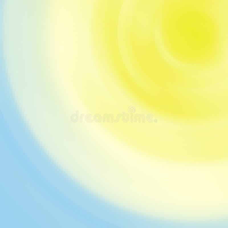 Céu ensolarado - backgroun abstrato ilustração stock