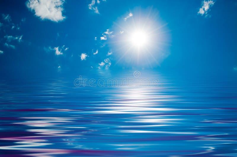 Céu ensolarado com nuvens ilustração do vetor