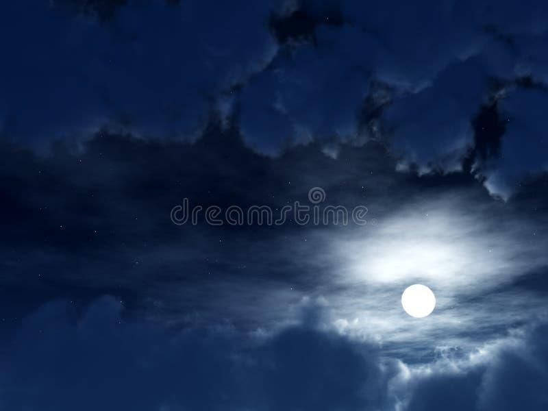 Céu escuro 2 ilustração stock
