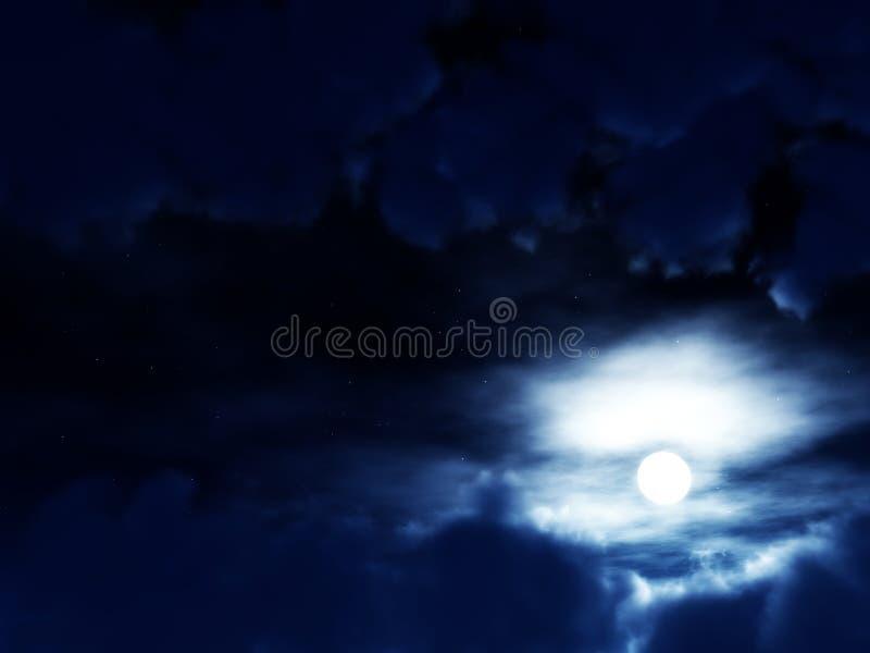 Céu escuro ilustração royalty free