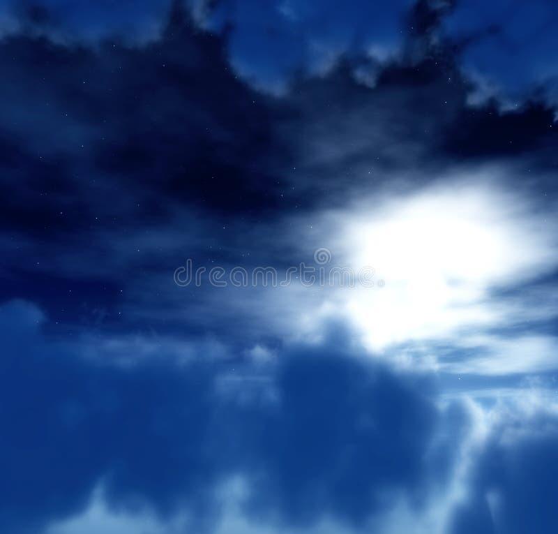 Céu escuro 5 ilustração do vetor