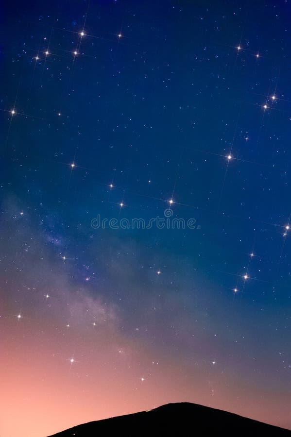 Céu estrelado foto de stock