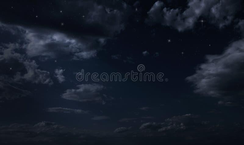 Céu estrelado da noite imagem de stock