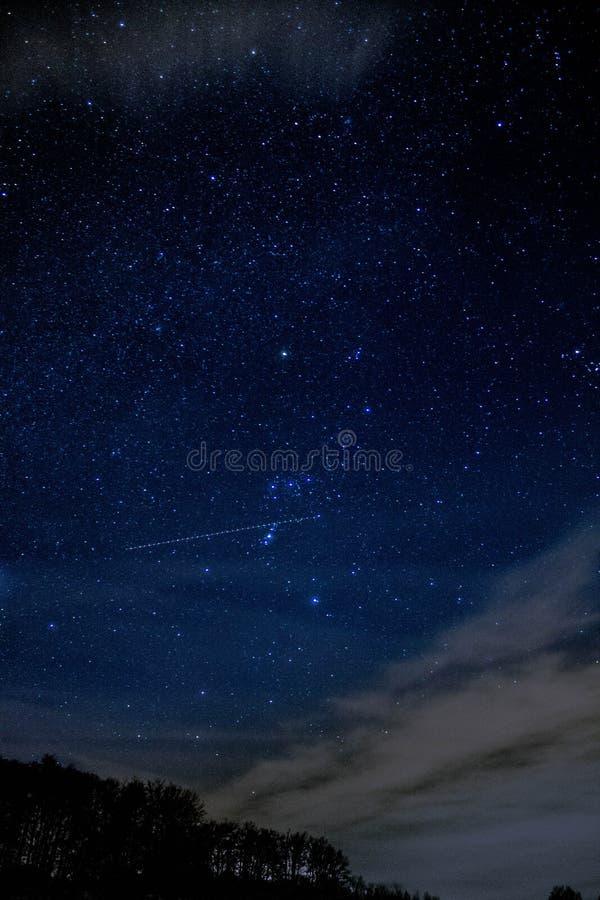 Céu estrelado em Alemanha fotografia de stock royalty free