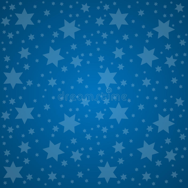 Céu estrelado Ilustração do vetor do conceito da boa noite ilustração do vetor