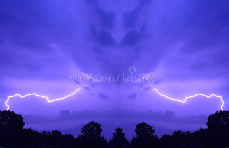 Céu mau imagem de stock