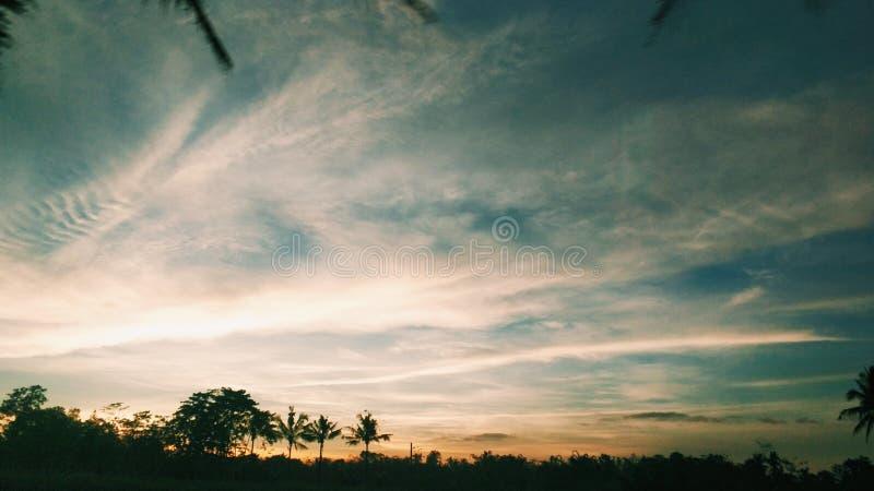 Céu morno imagem de stock