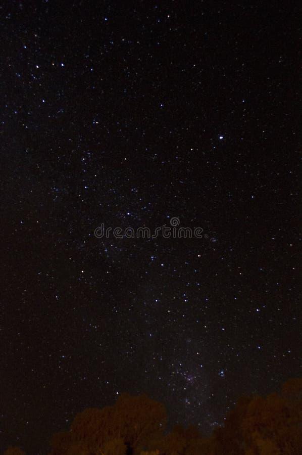 Céu na noite fotografia de stock