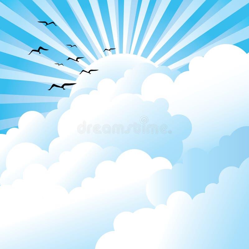 Céu nebuloso ilustração stock