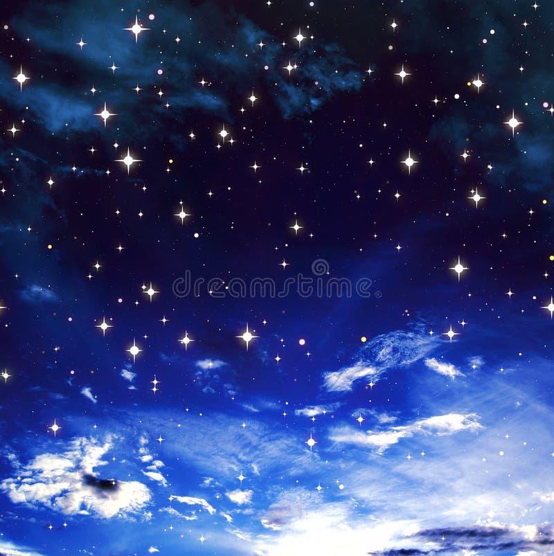 Céu nebuloso azul ilustração royalty free