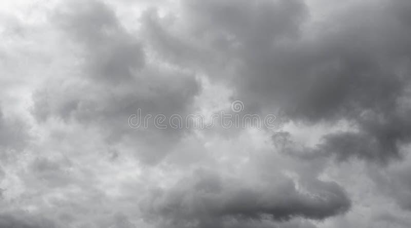 Céu nebuloso cinzento fotografia de stock royalty free