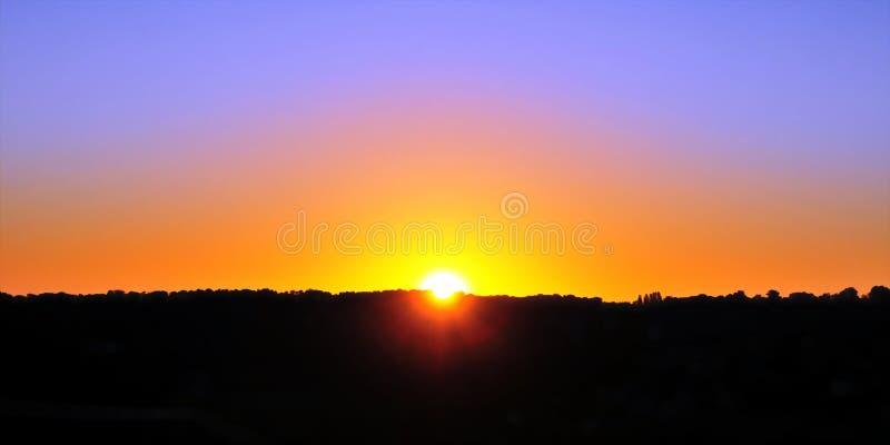 Céu no nascer do sol foto de stock royalty free