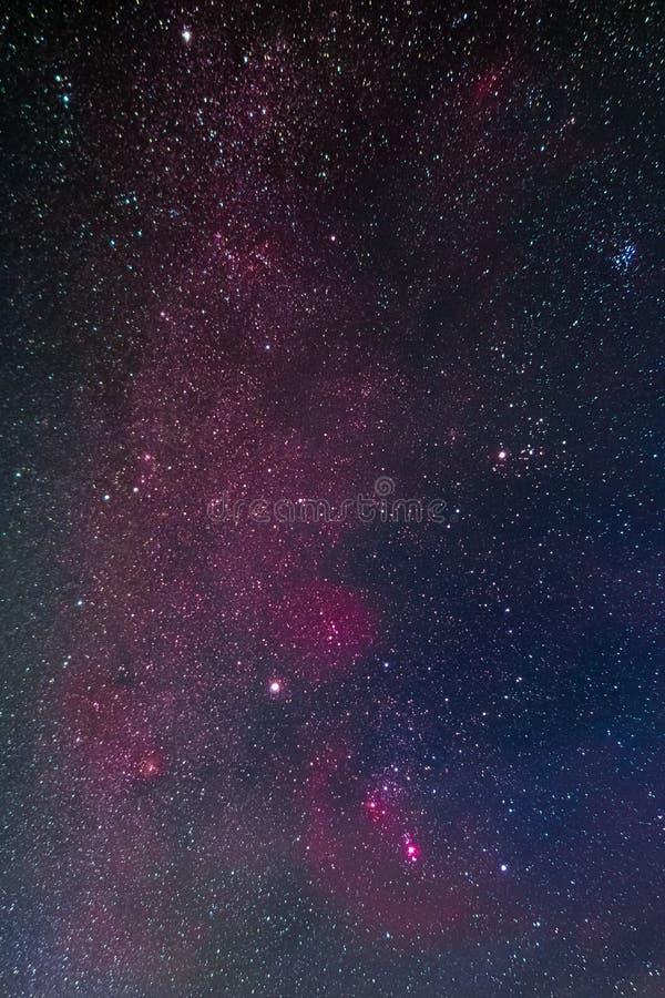 Céu nocturno foto de stock