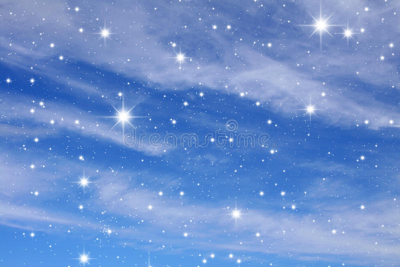 Céu nocturno ilustração stock