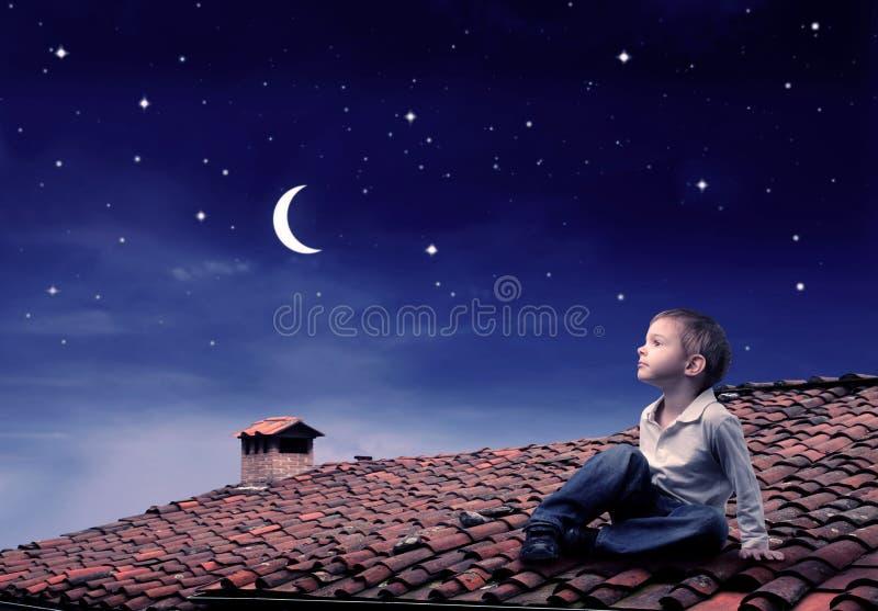 Céu nocturno fotos de stock royalty free