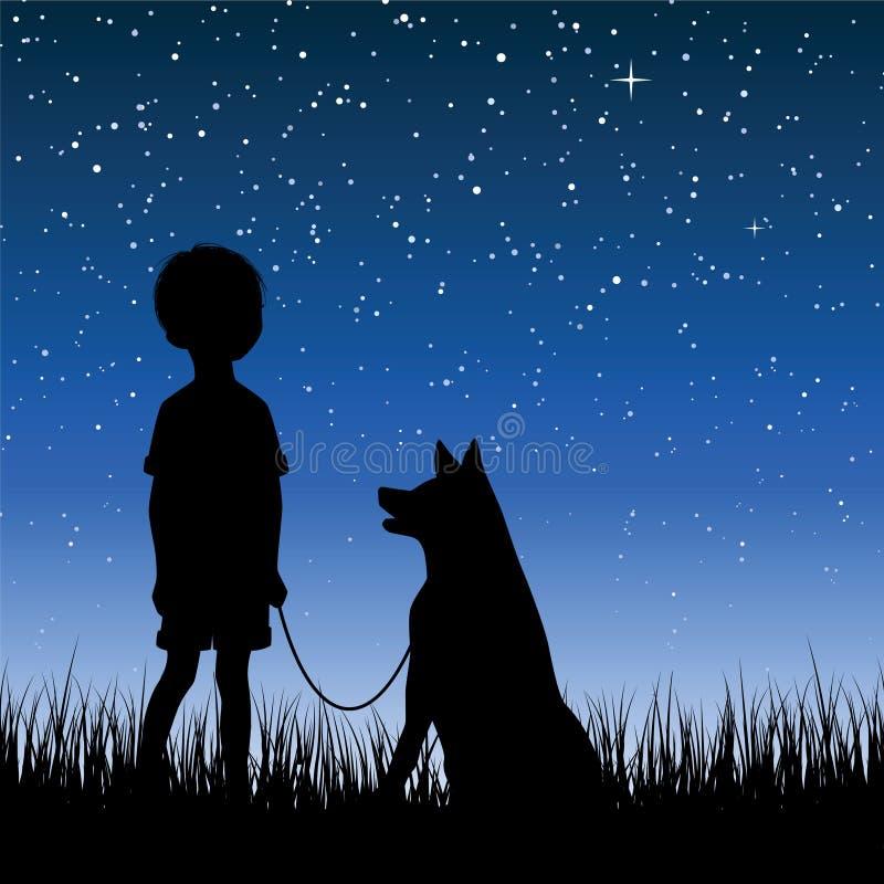 Céu nocturno ilustração royalty free