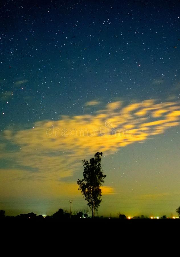 Céu nocturno imagens de stock