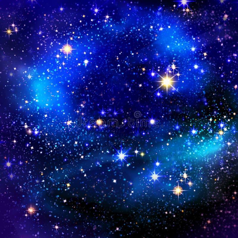 Céu nocturno e estrelas ilustração royalty free