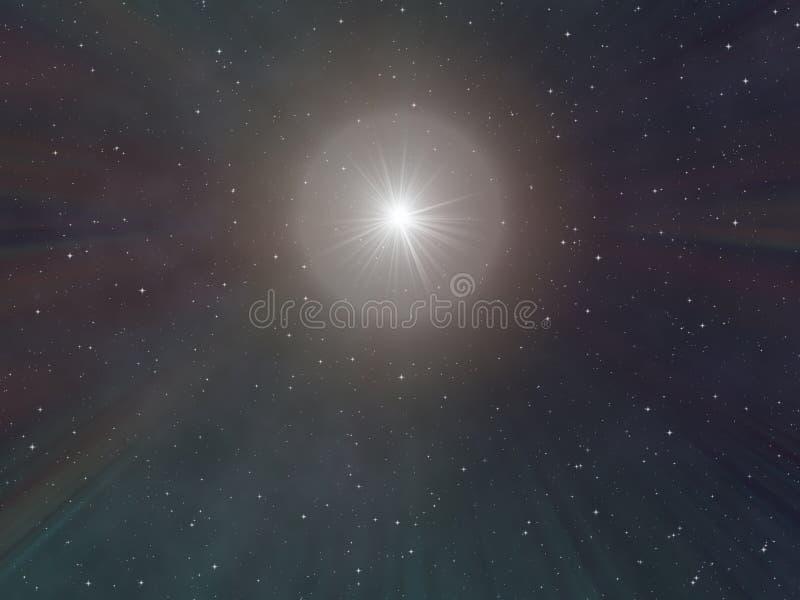 Céu nocturno estrelado ilustração do vetor