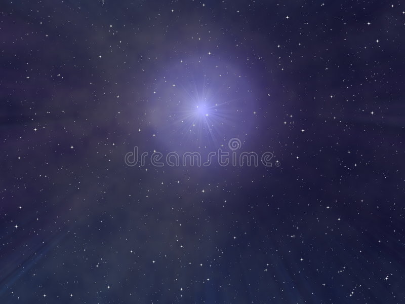 Céu nocturno estrelado ilustração royalty free