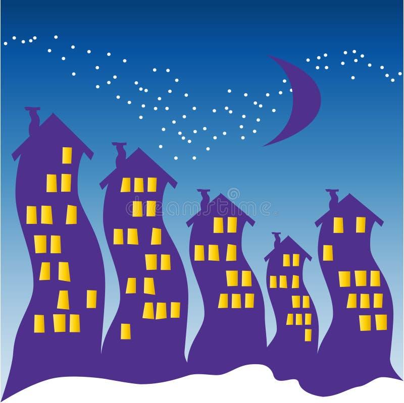 Céu nocturno - Halloween ilustração stock