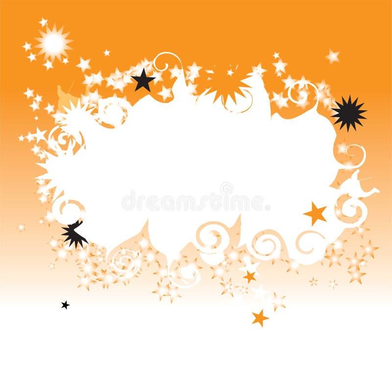 Céu nocturno nas estrelas ilustração royalty free