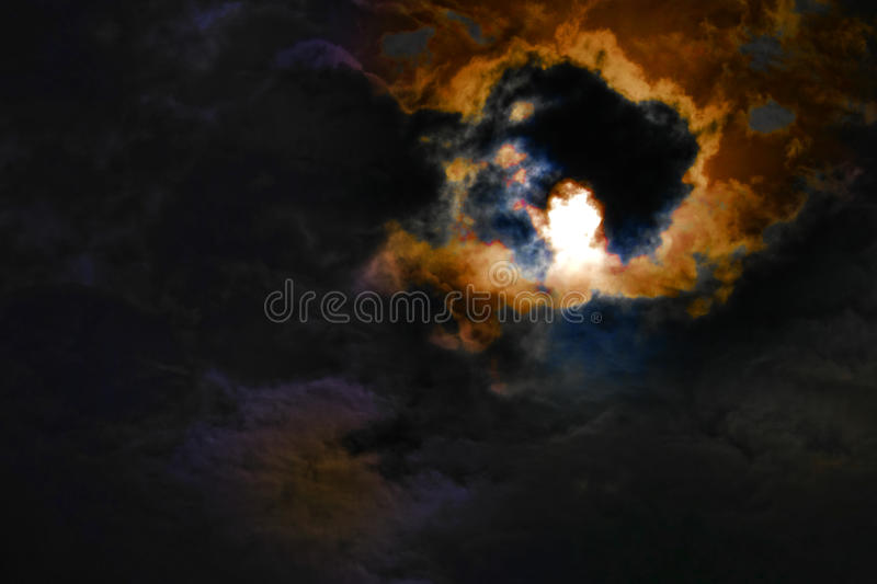 Céu noturno em uma tempestade foto de stock royalty free