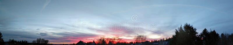 Céu panorâmico do crepúsculo imagens de stock royalty free