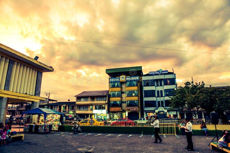 Céu surpreendente em Equador foto de stock