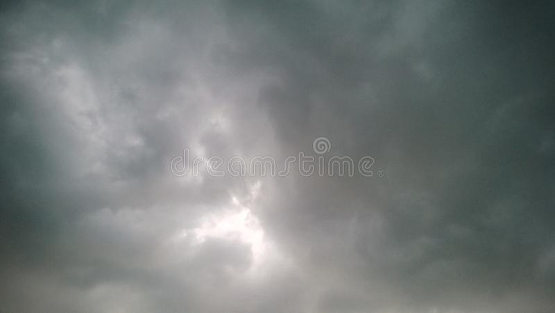 Céu tormentoso fotografia de stock