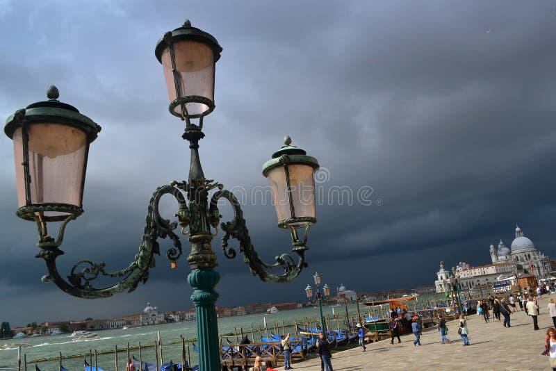 Céu tormentoso sobre Veneza fotografia de stock royalty free