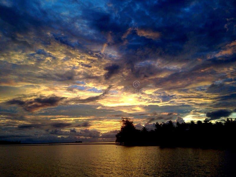 Céu tropical da noite fotos de stock royalty free