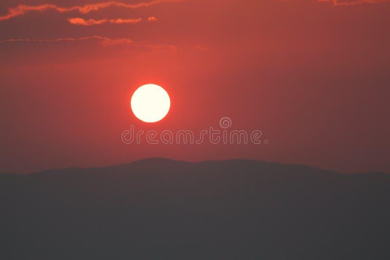 Céu vermelho fotografia de stock