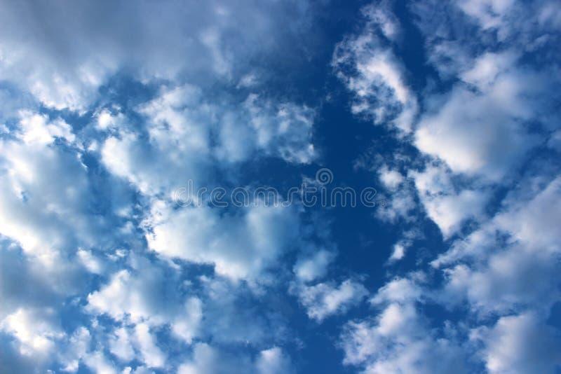 Céus azuis lindos e pensamentos de inspiração da nebulosidade inchado das coisas como o curso, a esperança, e um futuro brilhante imagem de stock royalty free