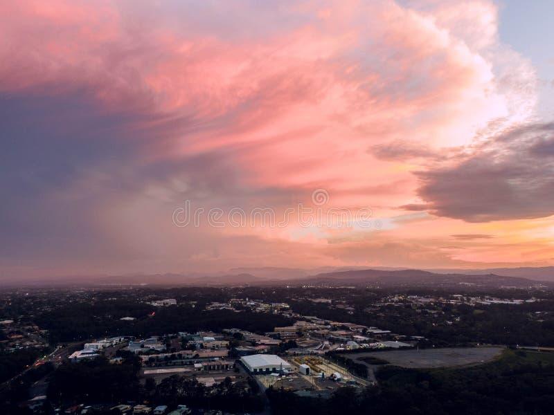 Céus cor-de-rosa imagem de stock