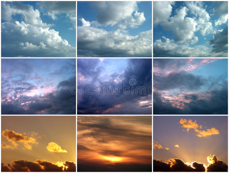 Céus Nebulosos Imagens de Stock