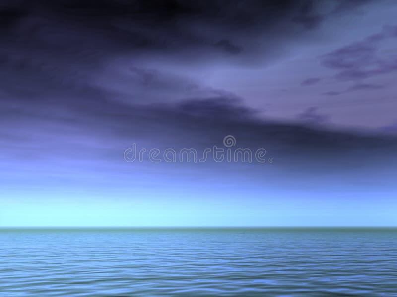 Céus sombrios fotografia de stock