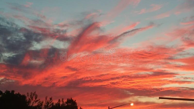 Céus vermelhos hoje à noite foto de stock