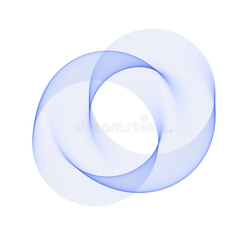 Círculo abstracto azul Fondo redondo abstracto Plantilla para la red social, zavstka, postal, haciendo publicidad ilustración del vector